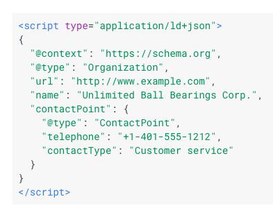 imagem dos códigos javascript com dados estruturados