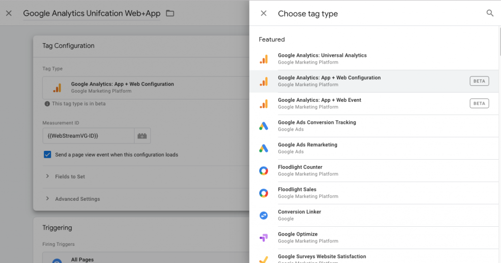 como configurar google analytics unified
