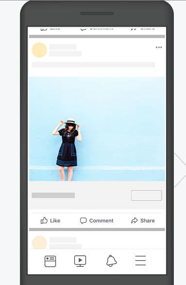 imagem do celular com o anúncio de imagem sem texto na imagem. Facebook remove a restrição